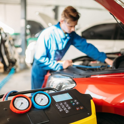 Re gassing your car Air conditioner